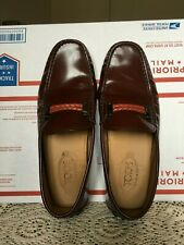 TOD'S GOMMINO MENS MAHOGANY DRIVING SHOES MADE IN ITALY SIZE US 7