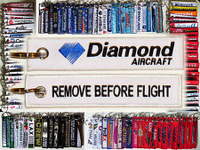 Keyring DIAMOND AICRAFT logo Pilot Remove Before Flight tag keychain