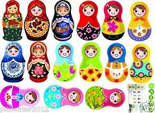 15 Babushka Doll Removable wall Sticker Home Baby Kids Girls Room Nursery