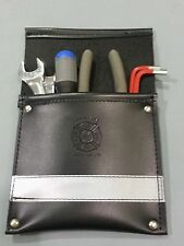 Sav-A-Jake Firefighter Leather Pocket Tool Pouch w/3M Silver Reflective Stripe