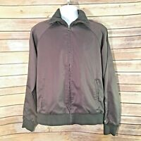 Vintage Puma Mens Track Jacket Size Medium Charcoal Grey Full Zip