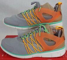 New Womens 10 NIKE Free Viritous Grey Orange Shoes $110 725060-003