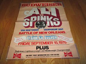 Budweiser Presents MUHAMMAD ALI vs LEON SPINKS Battle of New Orleans POSTER
