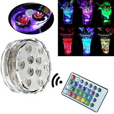 Colorful LED Aquarium Fish Tank Diving Lights With Remote Control Waterproof