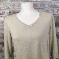 J.Jill Womens Petite Small Tan V neck Sweater
