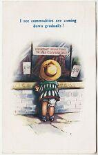 BAMFORTH COMIC #832 - Lingerie Shop Window - Prices Down -- c1920 used postcard