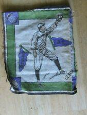 1914 ADVERTISING ITEM FELT PATCH US BASEBALL CLEVELAND PLAYER OLSON