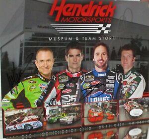 HENDRICK MOTORSPORTS TEAM HERO CARD 4X AUTOGRAPHED MM, JG, JJ, JR W/JSA COA WOW