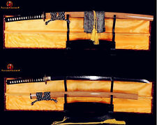 HAND FORGED JAPANESE KATANA SWORD T10 CLAY TEMPERED FULL TANG BLADE BATTLE SHARP
