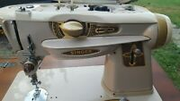 GOLD Singer Sewing Machine Model 500A with Sewing Table, Foot Medal, Power Cord