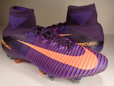 Nike Mercurial Superfly V SG-PRO Soccer Cleats Purple Dynasty SZ 9 (831956-585)