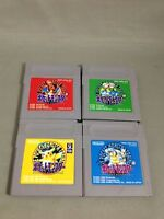 4 Pokemon Red Green Pikachu Yellow Blue set Pocket monsters Nintendo Gameboy
