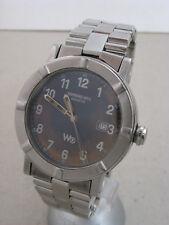 Mens Raymond Weil Geneve W1 Date Herren Edelstahl Stainless Steel wrist watch