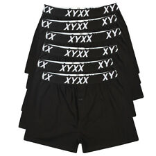Frank and Beans XY 6 x Boxer Shorts Black Men's 100% Cotton