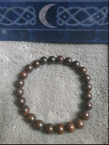 Tigers iron bracelet crystal healing 8mm bead