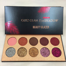 Diamond Glitter Eye shadow Sequins Make-up Cosmetic Pressed Palette 10 Colors.AA