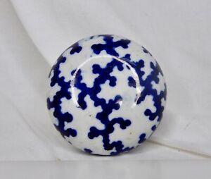 Antique Blue and White Porcelain Doorknob - 83800