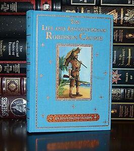 Life Adventures of Robinson Crusoe Daniel Defoe Illustrated New Deluxe Hardcover