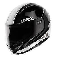 Uvex Hero Negro/Blanco Brillante Casco de Moto Mitad Precio - Medio