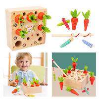 Baby Montessori Toy Pulling Carrot Shape Size Matching Game Educational Toy
