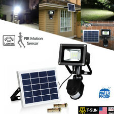 Solar Flood Spot Light 10W Outdoor Motion Sensor Waterproof IP65 Garden Lamp US
