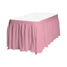 Touch of Color Easy Stick Plastic Table Skirt, 14-Feet,  - pink