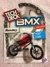 TECH DECK BMX  SUNDAY  SERIES 5 BNIP BLACK BIKE AND TYRES RED STICKERS