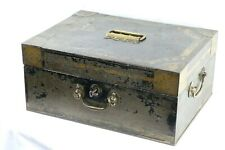 More details for antique victorian metal deeds documents solicitors strong box interior design