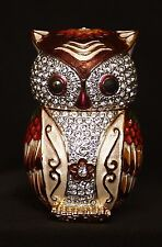 """St Petersburg Russian Faberge Collection: Owl Trinket Box 2.4"""""""