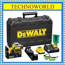 DeWalt DCE089D1G-XE 10.8V Li-ion Cordless 3 x 360° Green Beam Line Laser Level