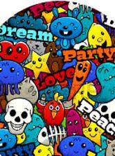 20 water slide manicure art transfer Full nail Graffiti Peace love Trending