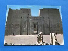 Vintage Post Card Postcard Egypt Edfu: Temple of God Horus Egyptian