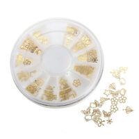 Mode DIY 3D Gold Nagel Aufkleber Art Nail Dekor Metall Pflaster Maniküre Netter