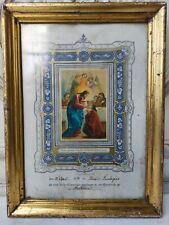antik Bilderrahmen Berliner Leiste Gold Leiste um 1878 Waschgold