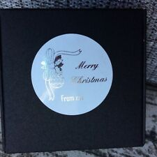 Silver Gold Foil Personalized Christmas Gift Labels Thank You Favor Box Stickers