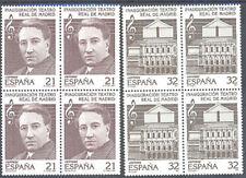 1997 TEATRO REAL DE MADRID MIGUEL FLETA EDIFIL 3514/15 ** MNH B4 THEATER TC12346