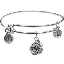 Usa Made - BbandJt138 Bangle Bracelet and Flower -