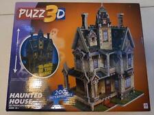 HAUNTED HOUSE GLOW IN THE DARK 200 PC PUZZ 3D JIGSAW PUZZLE 2012 MILTON BRADLEY