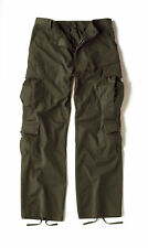 Olive Drab Vintage Military Paratrooper Tactical BDU Fatigue Pants Rothco 2786