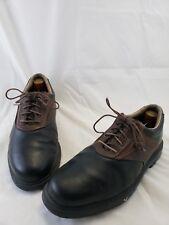 Callaway Men's Black Brown Leather Lace Up Athletic Golf Shoes Size 9M US 42 EU