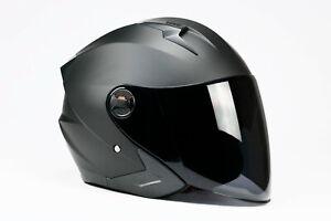 BNO Jet-9 Jethelm Langvisier Motorrad Roller Helm integr. Sonnenblende S M L XL