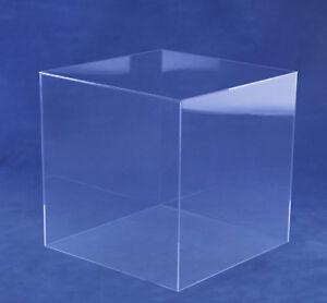 Haube Acryl / Schaukasten / Abdeckung / Staubschutz, quadratisch, versch. Größen