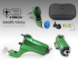 STEALTH 3.0 Aluminum Rotary Tattoo Machine Motor Liner Shader Cam Bearings GREEN