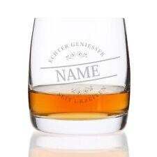 Whiskeyglas mit Gravur (Namen) - Motiv: Echter Geniesser