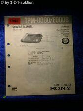 Sony Service Manual TPM 8000 / 8000B (#1948)