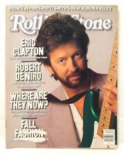 ROLLING STONE MAGAZINE #533 Eric Clapton Robert De Niro August 25 1988 CV