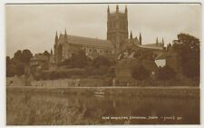 Worcestershire postcard - Worcester Cathedral, South - RP - P/U 1941