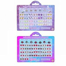Calendar Earring & Ring Set Girl Jewellery Accessories Sticky Ear Stickers Gems
