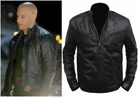 Fast And Furious Men Black Top Grain Genuine Cow Hide Movie Leather Jacket