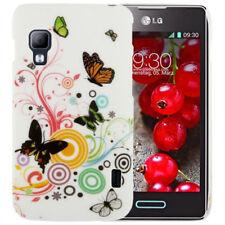 HardCase Schutzhülle für LG E455 Optimus L5 II Dual Schmetterlinge bunt weiß